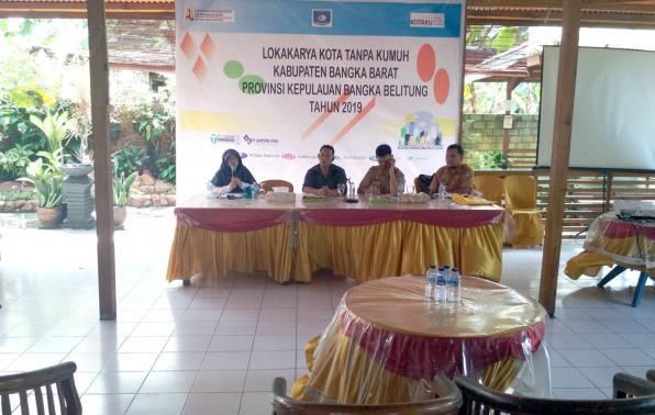 foto : Narasumber Ibu Miarka Risdawati, ST, M.Si  Kepala Balai Prasarana Permukiman Wilayah  Provinsi Kepulauan Bangka Belitung